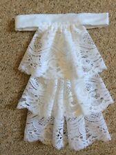 Jabot cravat in white lace - Steampunk/equestrian/fancy dress -  handmade
