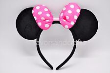Minnie Mouse Ears Headband Pink Bows Favors Party Supplies Costume Mickey