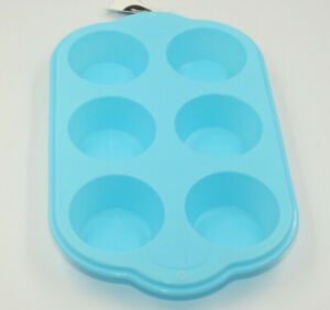6 Cup Large Silicone Bun/Muffin Tray Non Stick Tin Tray Baking Pudding Mold
