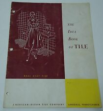 American Olean Idea Book of Tile Catalog Floors Walls Vintage 1950s Real Clay
