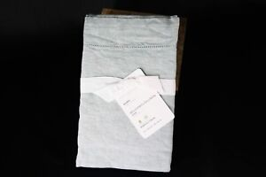 *NEW* with tags $75 Pottery Barn Mineral Blue Belgian Flax Linen Euro Sham