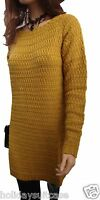 Size12-22 UK Ladies woman's oversized boyfriend winter a line jumper dress tunic