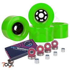 Cal 7 97mm 78A Longboard Flywheel Skateboard Green Wheels +Free Abec 7 Bearings