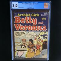 Archie's Girls, Betty and Veronica #3 (1951) 💥 CGC 3.0 OW-W 💥 Rare Golden Age!