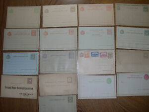 HUNGARY 1874-1900 lot of 8x UNUSED stamped covers Postal History HZ8