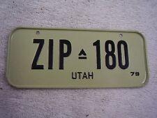 1979  UTAH SMALL CEREAL TAG   LICENSE PLATE
