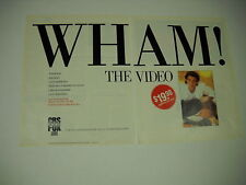 Wham! Rare 2 Piece Promo Ad from 1985 Wham! The Video