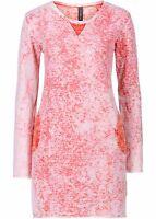 Damen Schönes Shirtkleid gemustert Paillettenbesatz Größe 36/38 NEU