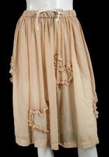 COMME DES GARCONS GIRL Nude Semi-Sheer Crepe Heart Applique Skirt XS