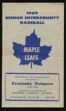 1969 Eveready Printers Baseball Schedule Toronto Maple Leafs  EX/EX+ 53463