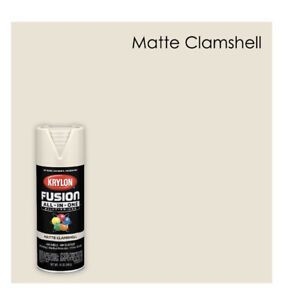 Krylon Fusion All-In-One Spray Paint, Matte, Clamshell, 12 oz.