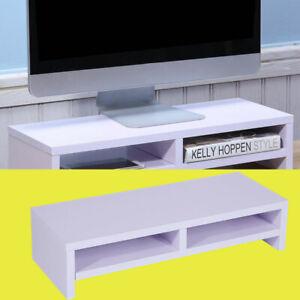 Monitorerhöhung Schreibtischregal Bildschirm Aufsatz Laptop TV Halterung CO