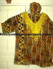 African Clothes/Hippie/Unisex/Dashiki shirt Kente Print CPRINTDASH5-NC39 Kwanzaa