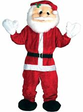 Adult Giant Big Head Santa Claus Mascot Fancy Dress Costume Christmas Outfit