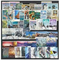 Australia Antarctic Territory 50 Different Used/CTO AAT Stamps in Glassine Bag