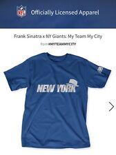 Frank Sinatra X Ny Giants X  NFL Collaboration Shirt, Blue, NWT Men's XL