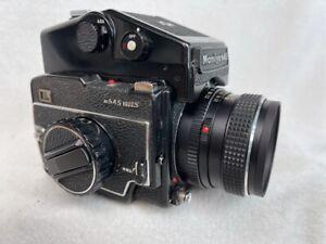 MAMIYA 645 MEDIUM FORMAT FILM CAMERA WITH 80MM 2.8 LENS - TESTED