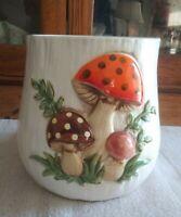 Vintage Mushroom Canister~ Sears Cookie Jar 1978 Large~ No Lid