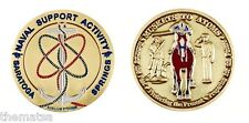 "SARATOGA SPRINGS NAVY NSA MUSKETS TO ATOMS 1.75"" CHALLENGE COIN"