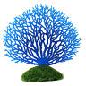 Ornement Aquarium Corail Artificiel Plante Silicone Décoration Poisson Bleu