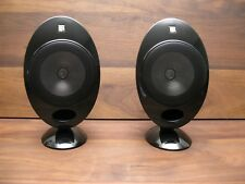 KEF HTS2001.3 Piano Black Satellite Speakers - One Pair - Clean SP3631