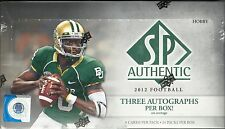 2012 SP Authentic Factory Sealed Football Hobby Box 3 AUTOS  Andrew Luck RC ?