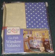 "NEW CoCaLo Baby ""Go Fish"" Baby Nursery Decorative Window Valance/Curtain"