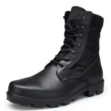 Men Leather Jungle Boots Military Tactical Army Combat Boots Combat Work Shoes