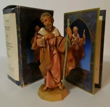"5"" Fontanini Joseph-Christmas Nativity #1 Italy 1992 with box & Story Card"