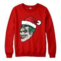 Joker Christmas Jumper, Batman Supervillian Xmas Festive Adult & Kids Jumper Top