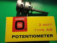 1PC. VINTAGE DUAL 1MEG LINEAR TAPER OHMITE 2WATT POT