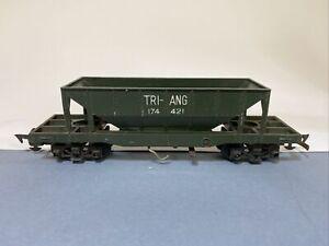 Vintage Tri-ang OO Gauge R111 Double Bogie Hopper Wagon 174 421 Green