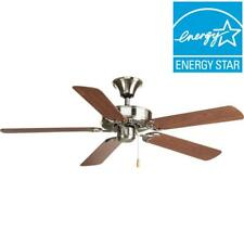 Progress Lighting AirPro Builder 52 in. Indoor Brushed Nickel Ceiling Fan