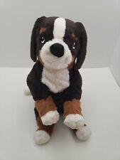 """Ikea Hoppig Bernese Mountain Dog Plush Floppy Puppy 14"""" Soft Toy Stuffed Animal"""