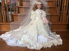 "BEAUTIFUL BRIDE DOLL MELODY Artist JANIS BERARD 29"" KAIS Porcelain Victorian"