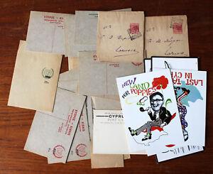 Cyprus. Postal stationary/postcards & Newspaper wrappers.