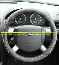 FORD FAUX LEATHER LOOK STEERING WHEEL COVER GREY