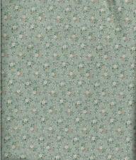 Patchwork coupon tissu coton américain Semis de fleurs fond vert 45 cm x 55 cm