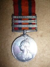 Queen's South Africa Medal 1899-1902 (3) clasps to 3rd Co. Imp. Yeo. Gloucester