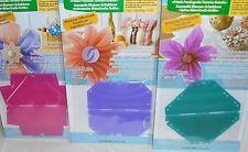 3 fabricantes de Flor de trébol kanzashi (grande) Redondo Pétalo, señaló Pétalo & reunidos