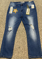 NWT Women's CELEBRITY ACE SKINNY STRETCHY JEANS Size 14 Actual 36X24 Rise 10.5