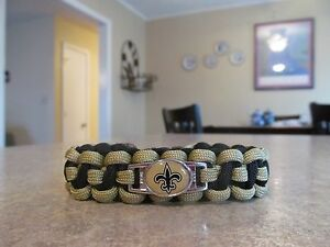 New Orleans Saints Black & Gold - NFL Paracord Bracelet