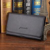 New Men Genuine Leather Mobile Phone Cover Case Hip Belt Fanny Pack Waist Bag