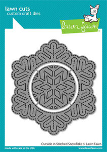 Lawn Fawn Outside In Stitched Snowflake Die  2pc