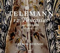 Fabio Biondi - Telemann 12 Fantasias for Solo Violin Hamburg 1735 [CD]