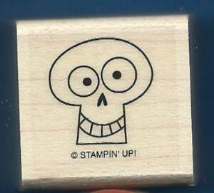 SKULL SKELETON KEY HOLE Halloween NEW Stampin' Up! Spooky Bingo Bit RUBBER STAMP
