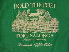 Vintage HOLD THE FORT Fort Salonga Orchards, Premium Apple Cider T shirt, Mens S