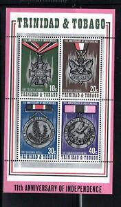 1973 Trinidad & Tobago  Sc #235-38 11th Anniv. of Independence MNH