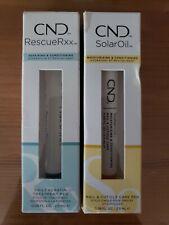 2x CND Essentials SOLAR OIL Nail & Cuticle Care Pen Conditioner & Rescue Rxx
