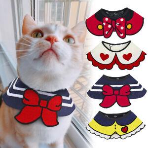 Cute Pet Dog Bandana Bibs Scarf Collar Adjustable Puppy Cat Neckerchief Yorkie